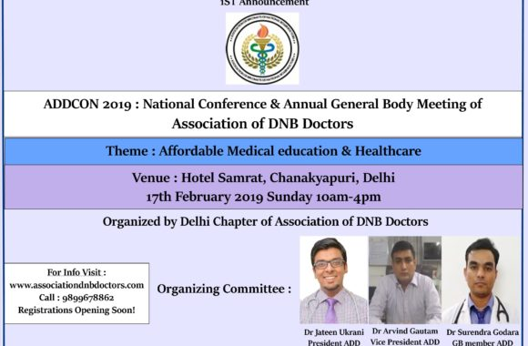 Register for ADDCON 2019 : National Conference & Annual General body Meeting